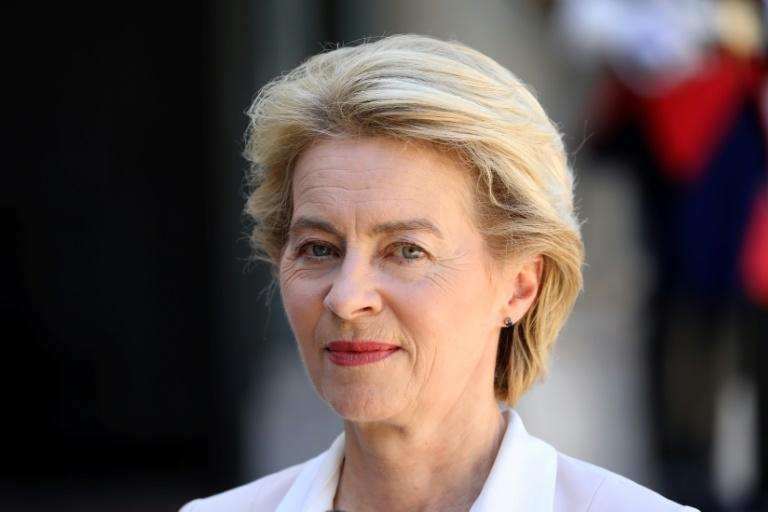 Von der Leyen will save on security costs by sleeping in a flat joined to her office, but will have to make do with 25 square metres (270 square feet) (AFP Photo/LUDOVIC MARIN)