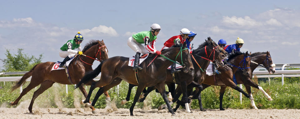 Race for the prize of the Summer in Pyatigorsk,Caucasus.