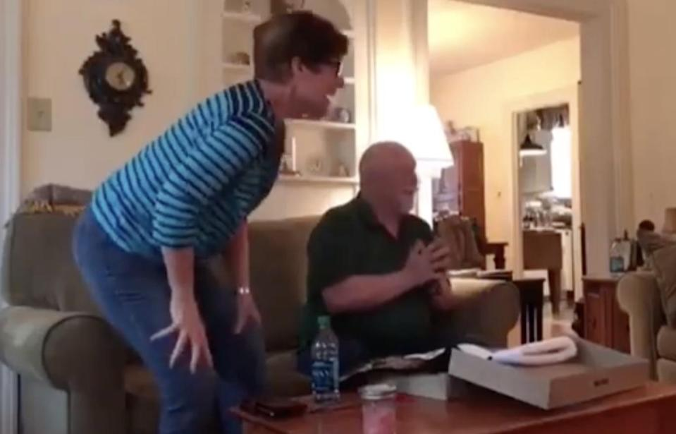 The grandma-to-be couldn't contain her excitement. Photo: Facebook