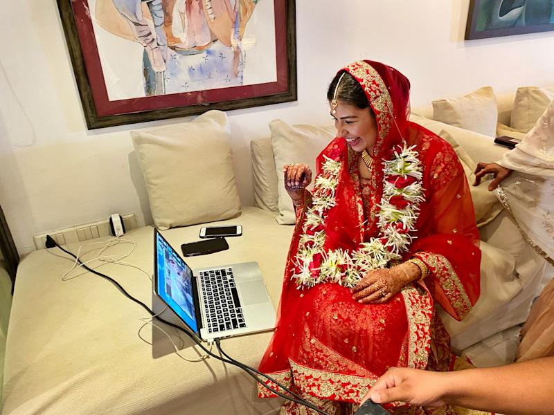 Ummul-Kiram Kathawalla and her fiancé Tyler Maunu were married over Zoom in a Muslim wedding ceremony known as a nikah.