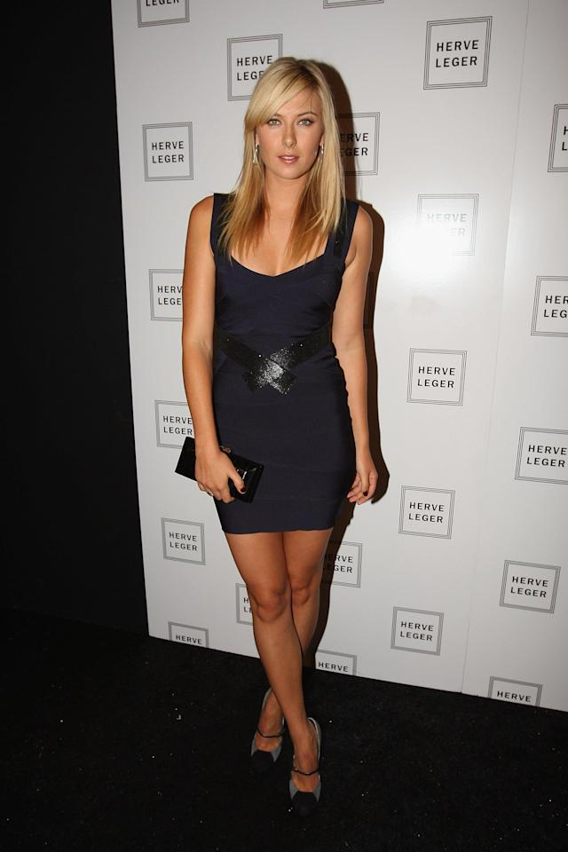 NEW YORK - SEPTEMBER 07: Maria Sharapova attends Herve Leger Spring 2009 at The Promenade, Bryant Park on September 7, 2008 in New York City. (Photo by Theo Wargo/WireImage)