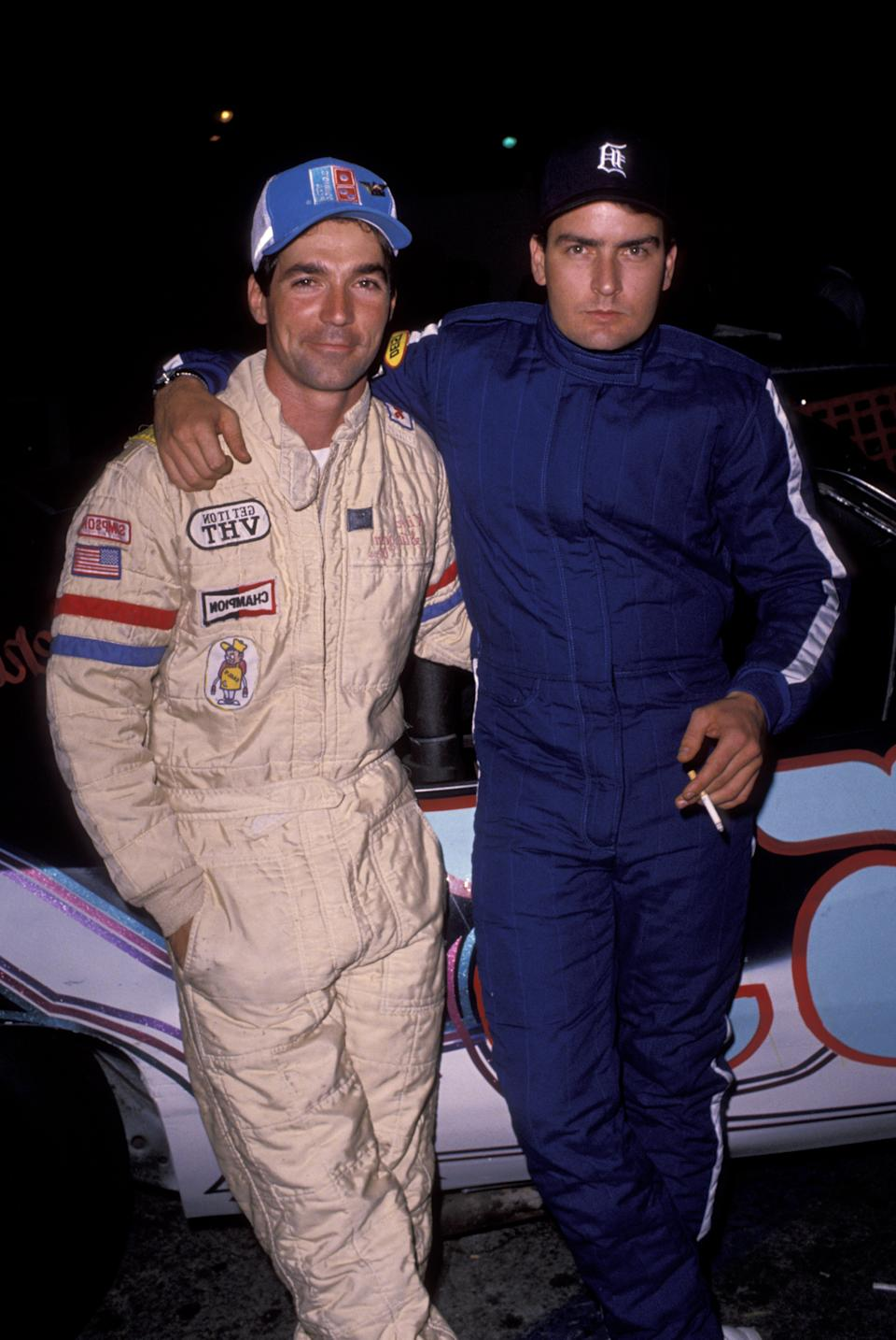 Eddie Braun and Charlie Sheen (Photo by Ron Galella/Ron Galella Collection via Getty Images)