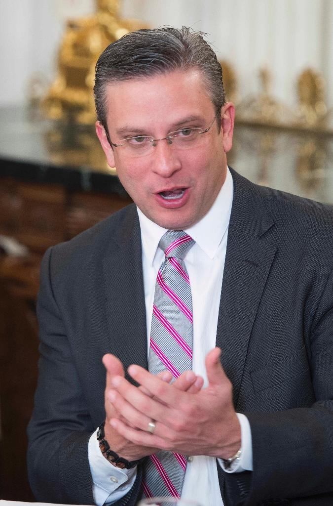 Puerto Rico Governor Alejandro Garcia Padilla, pictured on February 23, 2015, said that he will not put himself up for reelection