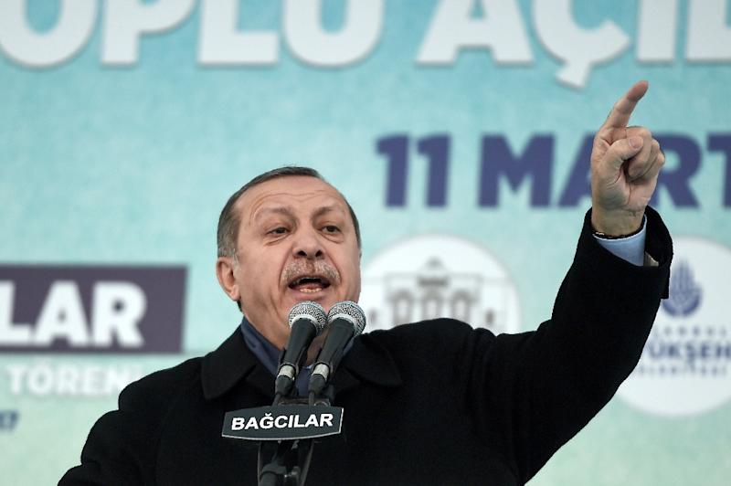 Recep Tayyip Erdogan's strongly-worded comments came after The Hague said it would refuse Foreign Minister Mevlut Cavusoglu's plane permission to land for a rally to gather support for a referendum on boosting Erdogan's powers