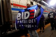 FILE PHOTO: U.S. Democratic presidential candidate and former Vice President Joe Biden campaigns on train tour in Pittsburgh