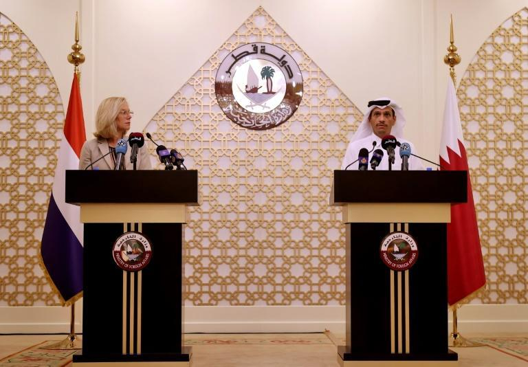Political leaders have flocked to Doha and some countries have moved their Kabul embassies to Qatar (AFP/KARIM JAAFAR)