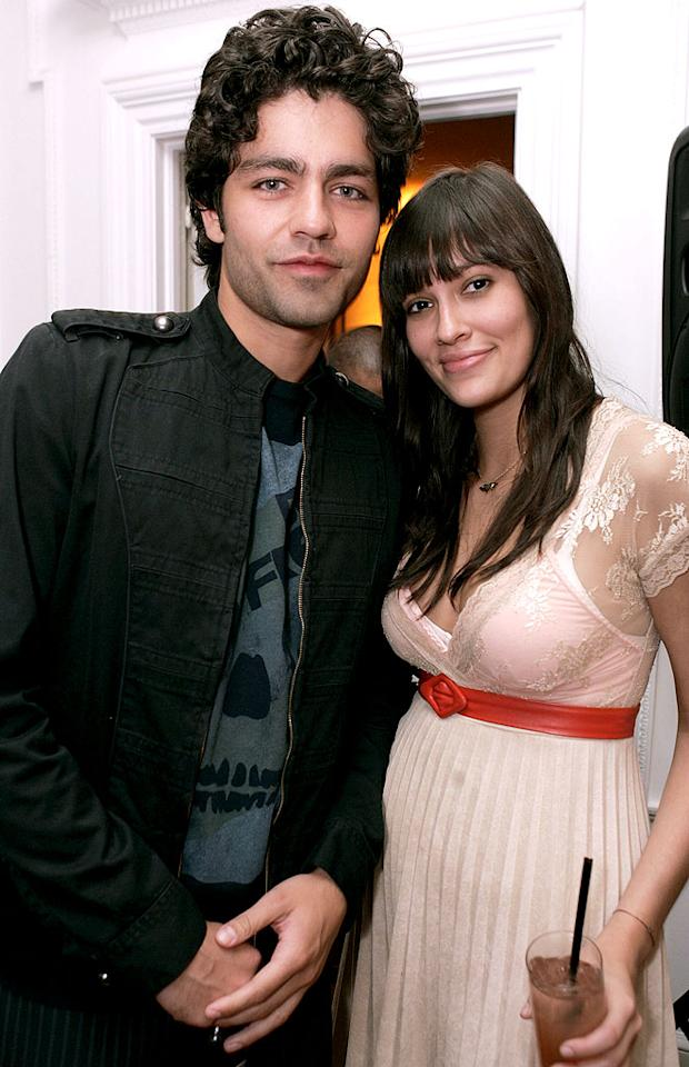 """Entourage"" hottie, Adrian Grenier and guest. Chris Weeks/<a href=""http://www.wireimage.com"" target=""new"">WireImage.com</a> - May 31, 2007"