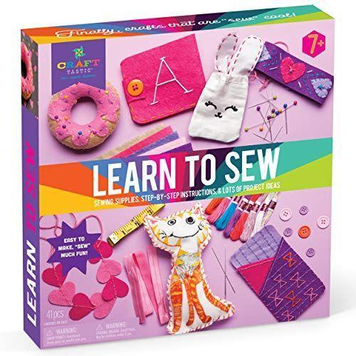 """<p><strong>Craft-tastic</strong></p><p>amazon.com</p><p><strong>$19.47</strong></p><p><a href=""""https://www.amazon.com/dp/B0749W9PJ5?tag=syn-yahoo-20&ascsubtag=%5Bartid%7C10055.g.33956496%5Bsrc%7Cyahoo-us"""" rel=""""nofollow noopener"""" target=""""_blank"""" data-ylk=""""slk:Shop Now"""" class=""""link rapid-noclick-resp"""">Shop Now</a></p><p>Learning to sew couldn't be easier than with this beginner sewing kit, which includes an instruction booklet to teach kids the basics of the craft (including different types of stitches!). They'll learn to make a total of seven different cool projects, including a headband, a stuffie, a <a href=""""https://www.goodhousekeeping.com/electronics/g28207275/best-phone-cases/"""" rel=""""nofollow noopener"""" target=""""_blank"""" data-ylk=""""slk:phone case"""" class=""""link rapid-noclick-resp"""">phone case</a> and more. <em>Ages 6–15</em><br></p>"""
