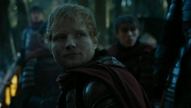 Ed Sheeran as a Lannister soldier on <em>Game of Thrones</em> (Photo: HBO)