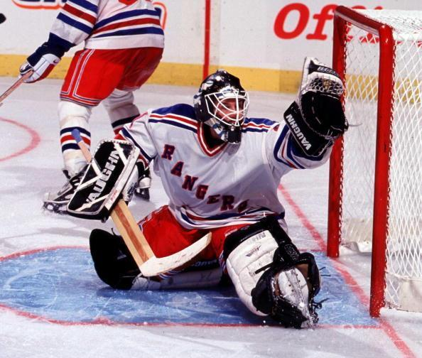 2000 Season: Goaltender Kay Whitmore. (Photo by Jim McIsaac/Getty Images)