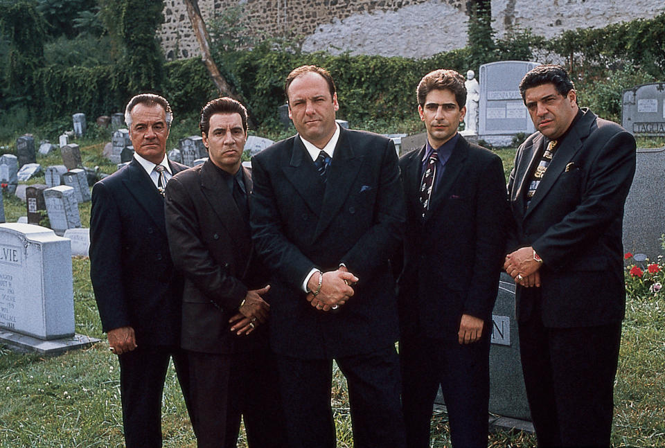 (L-R) Actors Tony Sirico, Steven Van Zandt, James Gandolfini, Michael Imperioli & Vincent Pastore in publicity still for HBO cable TV series The Sopranos  (Photo by Anthony Neste/The LIFE Images Collection via Getty Images/Getty Images) | Anthony Neste—The LIFE Images Collection via G