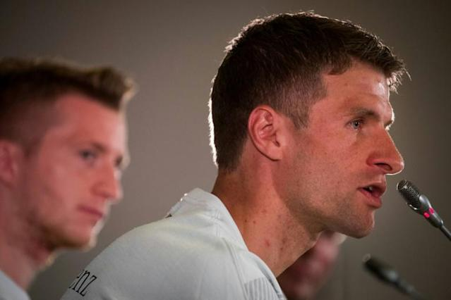 Thomas Mueller insists that there isn't a problem in the Germany dressing room