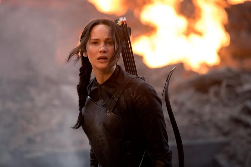 THE HUNGER GAMES: MOCKINGJAY - PART 1, Jennifer Lawrence, 2014. ph: Murray Close/Lionsgate/courtesy Everett Collection