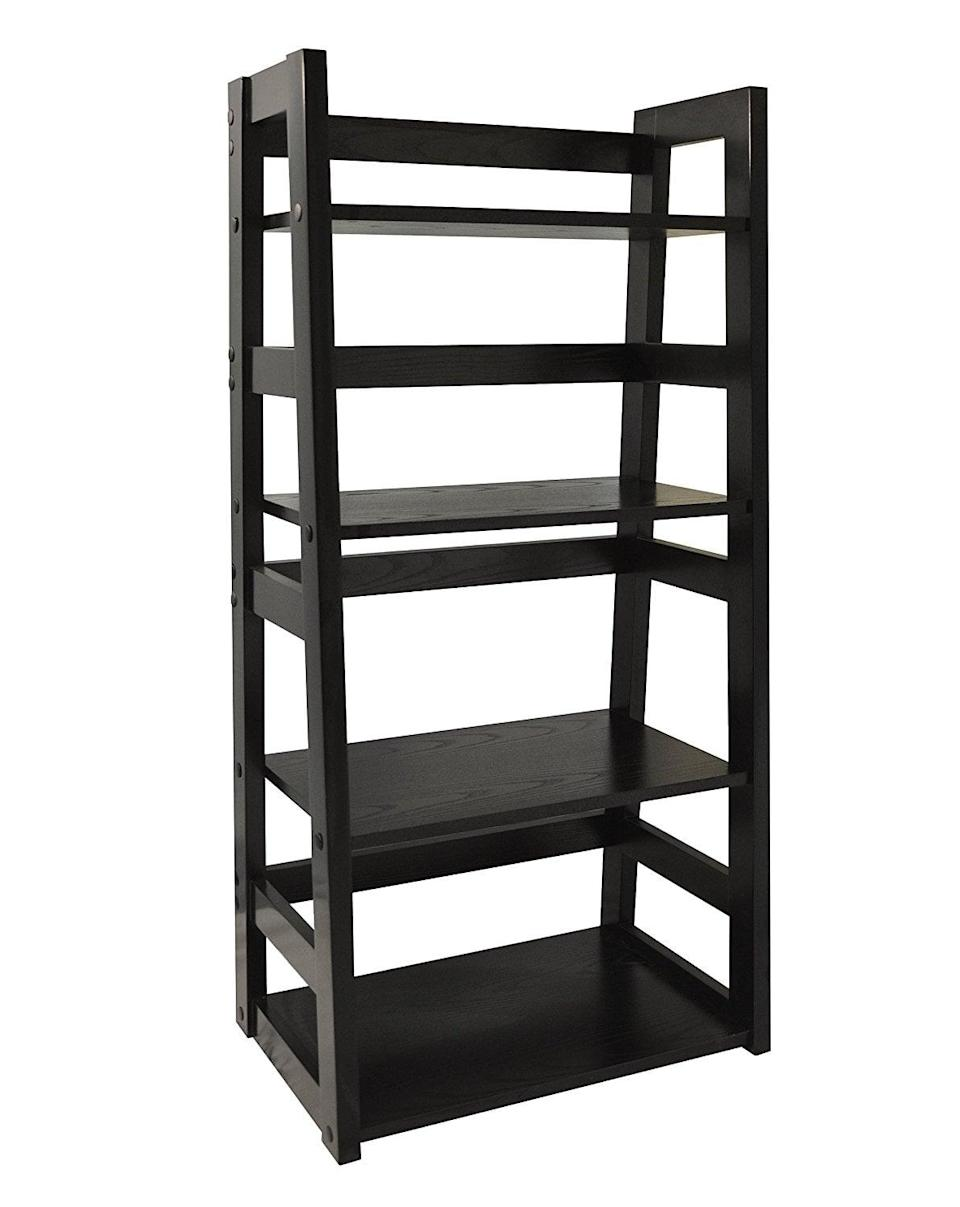 <p>If you have a large literary collection, you'll love the <span>Convenience Concepts Traditional 4-Tier Trestle Bookcase</span> ($71). The shelves are both deep and wide, allowing book worms to show off just how well-read they are.</p>