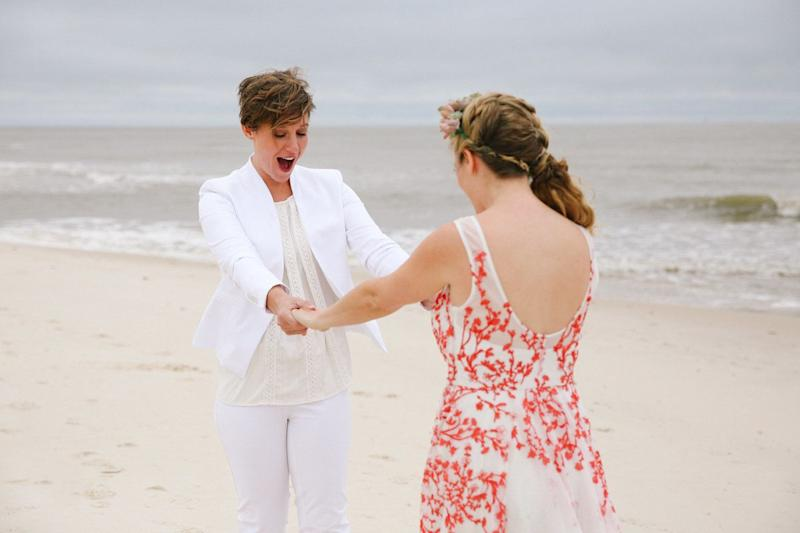 """Ajay and Kate's wedding in Gulf Shores, Alabama."" -- <i>Leah Moyers </i>"