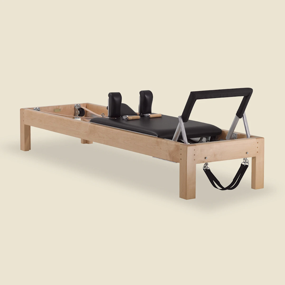 """<p>pilates-gratz.com</p><p><strong>$4545.00</strong></p><p><a href=""""https://www.pilates-gratz.com/collections/shop-gratz-1/products/80-designer-reformer-in-maple-wood"""" rel=""""nofollow noopener"""" target=""""_blank"""" data-ylk=""""slk:Shop Now"""" class=""""link rapid-noclick-resp"""">Shop Now</a></p><p>You can't go wrong with a reformer <strong>based on the original design created by Joseph Pilates</strong>. This gorgeous piece features a sturdy maple frame and is elevated nearly 14 inches off the ground for a smooth, wide range of motion. Thoughtful details like leather straps, adjustable springs, and a cushioned foot bar make it worth the money.</p>"""