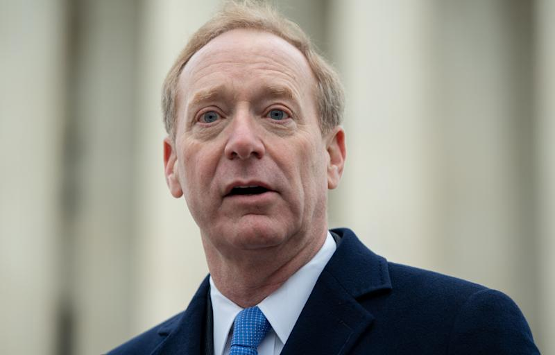 Microsoft president Brad Smith. Credit: Getty.