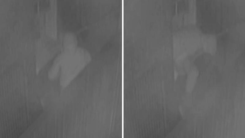 CCTV captures man climbing into girl's bedroom before alleged assault