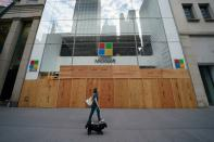 FILE PHOTO: The Microsoft store is pictured in the Manhattan borough of New York City