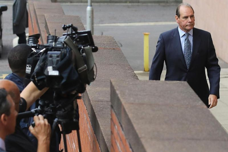Sir Norman Bettison arrives at court (Getty Images)