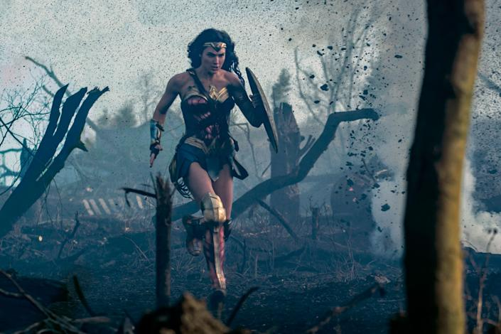 """The actual plot of the movie involves Wonder Woman <a href=""""http://www.cnn.com/2017/06/01/entertainment/wonder-woman-review/index.html"""" target=""""_blank"""">teaming up with an American pilot </a>to stop German forces. (Photo: Clay Enos/ TM   DC Comics)"""