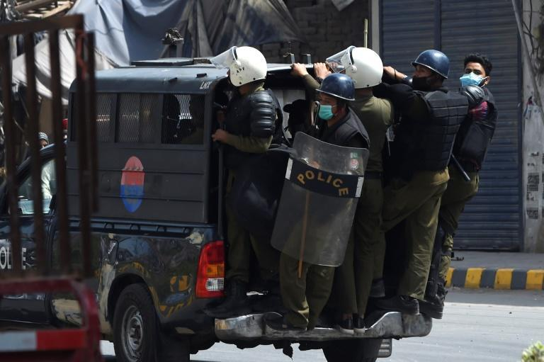 Riot police deployed in Lahore