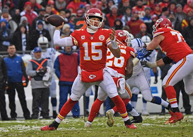 Patrick Mahomes and the Chiefs are seeking to buck one of the NFL's longest-held adages. (Getty)