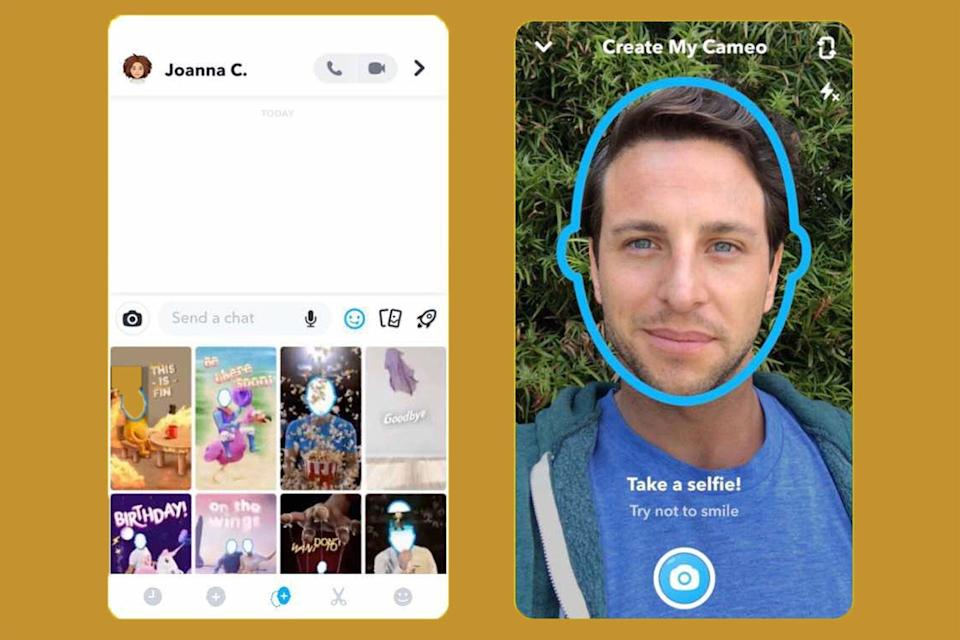 how to use snapchat cameo