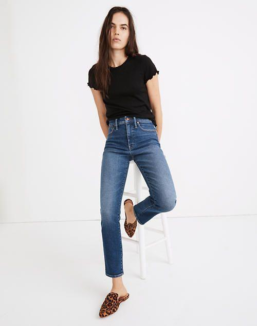 """<p><strong>Madewell</strong></p><p>madewell.com</p><p><a href=""""https://go.redirectingat.com?id=74968X1596630&url=https%3A%2F%2Fwww.madewell.com%2Fstovepipe-jeans-in-manchester-wash-AN335.html&sref=https%3A%2F%2Fwww.elle.com%2Ffashion%2Fshopping%2Fg34276887%2Fmadewell-jeans-sale-october-2020%2F"""" rel=""""nofollow noopener"""" target=""""_blank"""" data-ylk=""""slk:SHOP IT"""" class=""""link rapid-noclick-resp"""">SHOP IT</a></p><p><strong><del>$135</del> $75 (44% off)</strong></p><p>One of Madewell's all-time bestsellers, these high-rise straight leg jeans have a vintage-looking wash that works with just about everything. They're almost certain to sell out.</p>"""
