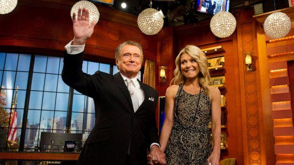 PHOTO: In this Friday, Nov. 18, 2011, file photo, Regis Philbin and Kelly Ripa appear on Regis' farewell episode of 'Live! with Regis and Kelly', in New York. (Charles Sykes/AP, File)