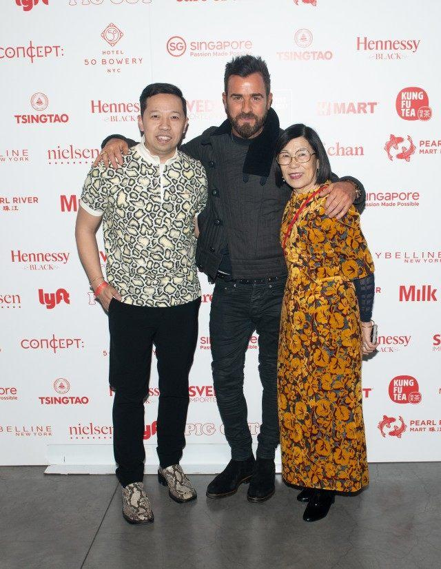 ebdfd50a Humberto Leon, Justin Theroux and Wendy Leon attend the Opening Ceremony  Lunar New Year 2019