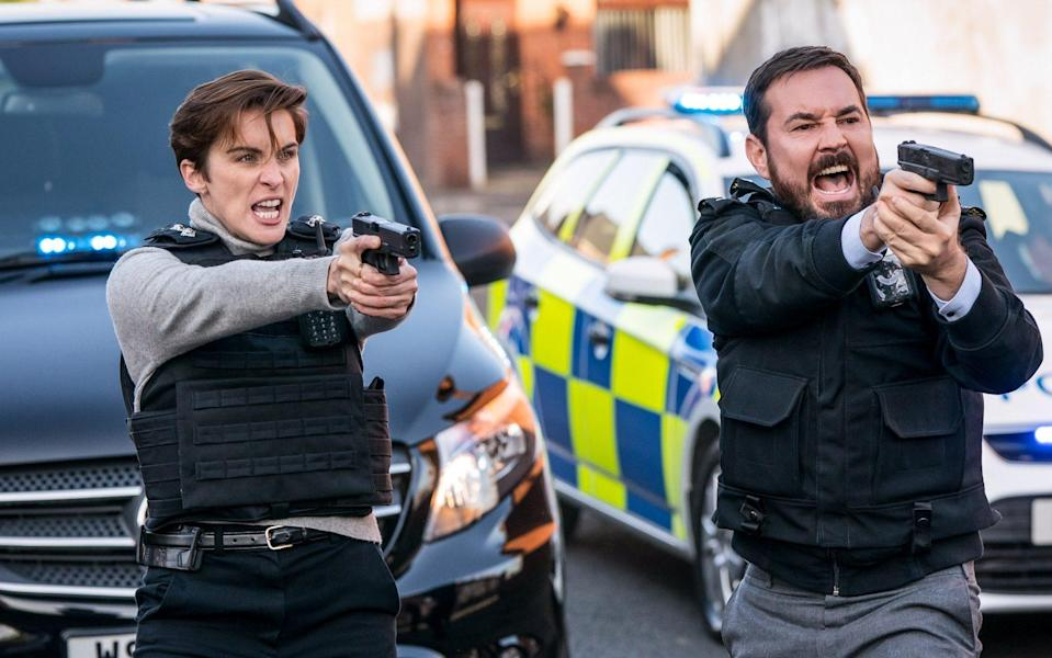 ***Embargoed until 00:01 Sunday 2nd May**** Programme Name: Line of Duty S6 - TX: 02/05/2021 - Episode: Line Of Duty - Ep 7 (No. n/a) - Picture Shows: ++DAY OF FINALE - EXCLUSIVE++ DI Kate Fleming (VICKY MCCLURE), DI Steve Arnott (MARTIN COMPSTON) - (C) World Production - Photographer: Steffan Hill - Stefan Hill/News Scans