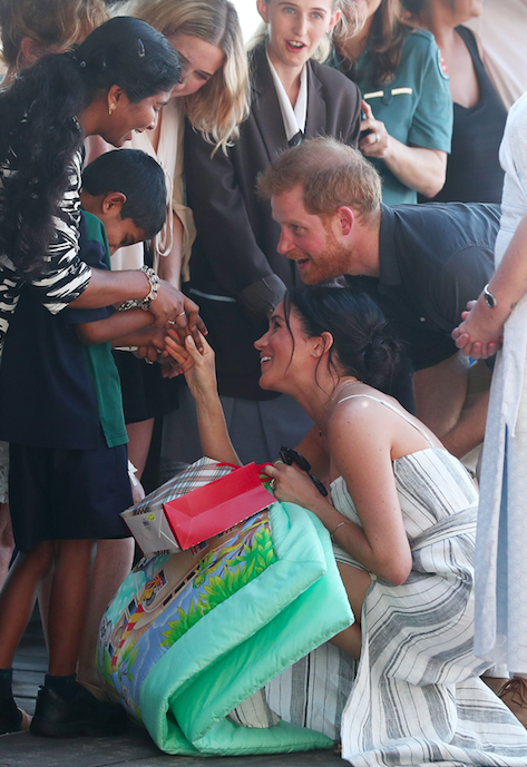 The royal couple met some locals and tourists on Fraser Island. Photo: Getty