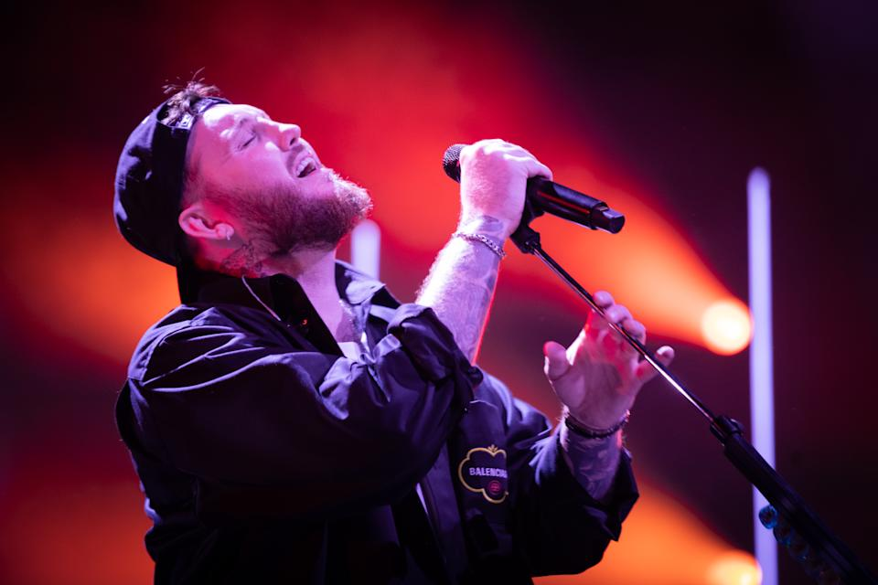 LEEDS, ENGLAND - MARCH 16: James Arthur performs at First Direct Arena on March 16, 2020 in Leeds, England. (Photo by Andrew Benge/Redferns)