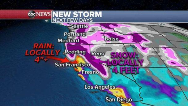 More storms are forming out West. (ABC News)