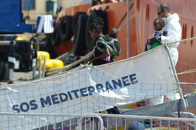 Dozens of children had been onboard the ship, rescued while trying to cross from Libya