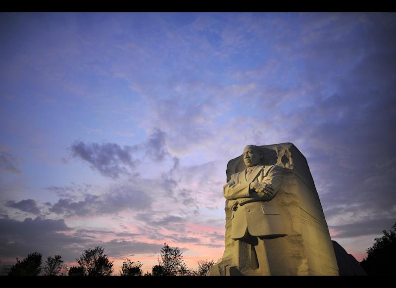 The sculpture of Martin Luther King Jr. National Memorial as seen on Aug. 26, 2011.