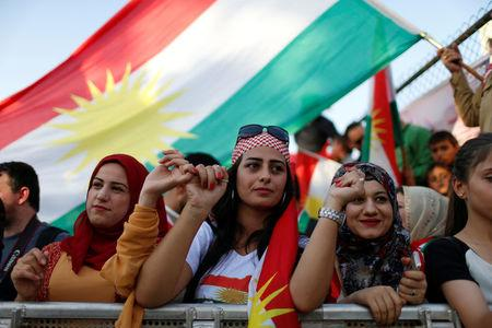 Kurds celebrate to show their support for the upcoming September 25th independence referendum in Erbil, Iraq September 22, 2017. REUTERS/Ahmed Jadallah