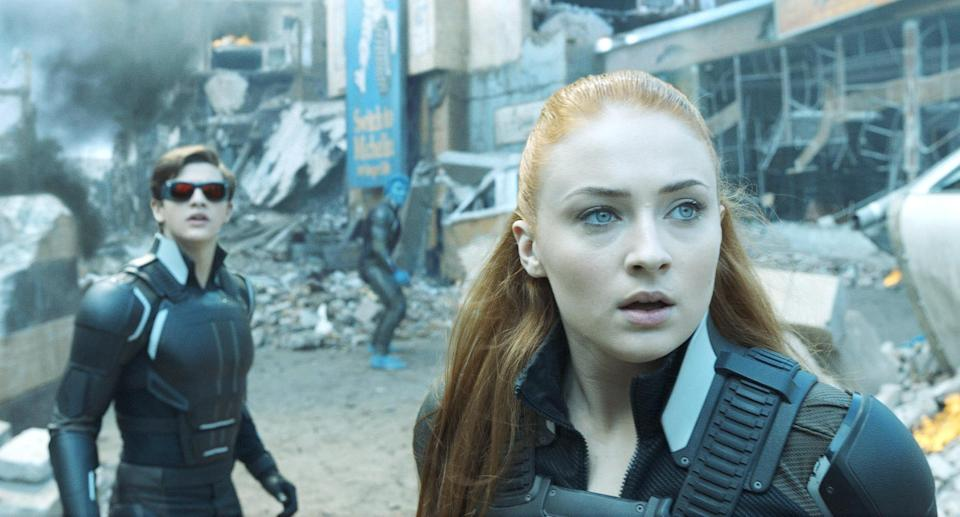 Tye Sheridan as Cyclops and Sophie Turner as Jean Grey in 2016's <em>X-Men: Apocalypse</em>. (Photo: 20th Century Fox Film Corp./Courtesy Everett Collection)