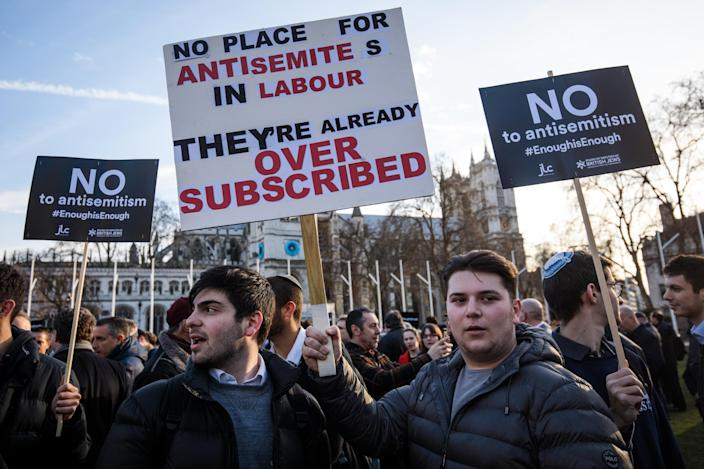 <em>Labour has been rocked by claims of anti-Semitism that reach all the way up to the leader (Getty)</em>