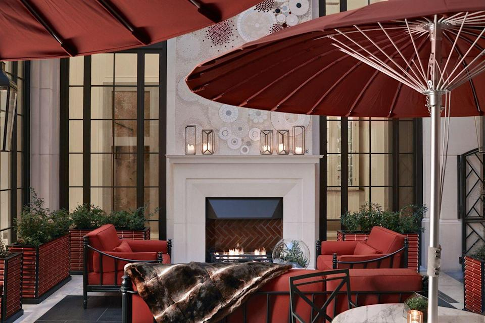 """<p><a href=""""https://go.redirectingat.com?id=127X1599956&url=https%3A%2F%2Fwww.corinthia.com%2Flondon%2Frestaurants-bars%2Fthe-garden-lounge%2F&sref=https%3A%2F%2Fwww.elle.com%2Fuk%2Flife-and-culture%2Ftravel%2Fg34481144%2Flondon-outdoor-terraces%2F"""" rel=""""nofollow noopener"""" target=""""_blank"""" data-ylk=""""slk:The famous London hotel"""" class=""""link rapid-noclick-resp"""">The famous London hotel</a> is also home to a 'best kept secret' garden and a food menu with dishes including a smoked salmon and caviar toasty and a whole Cornish seabass, fires, blankets, hot whisky and even a cigar sommelier.</p>"""