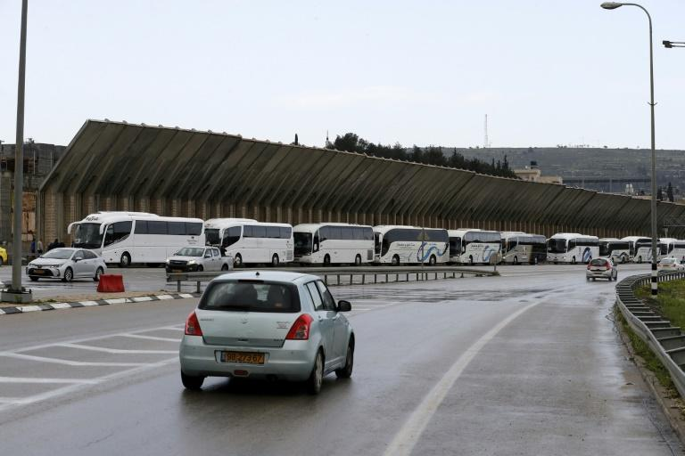 All tourist buses to and from Bethlehem were banned until further notice, Israeli police spokesman Micky Rosenfeld said
