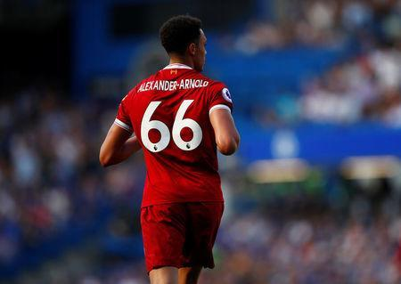 Soccer Football - Premier League - Chelsea vs Liverpool - Stamford Bridge, London, Britain - May 6, 2018 Liverpool's Trent Alexander-Arnold REUTERS/Eddie Keogh