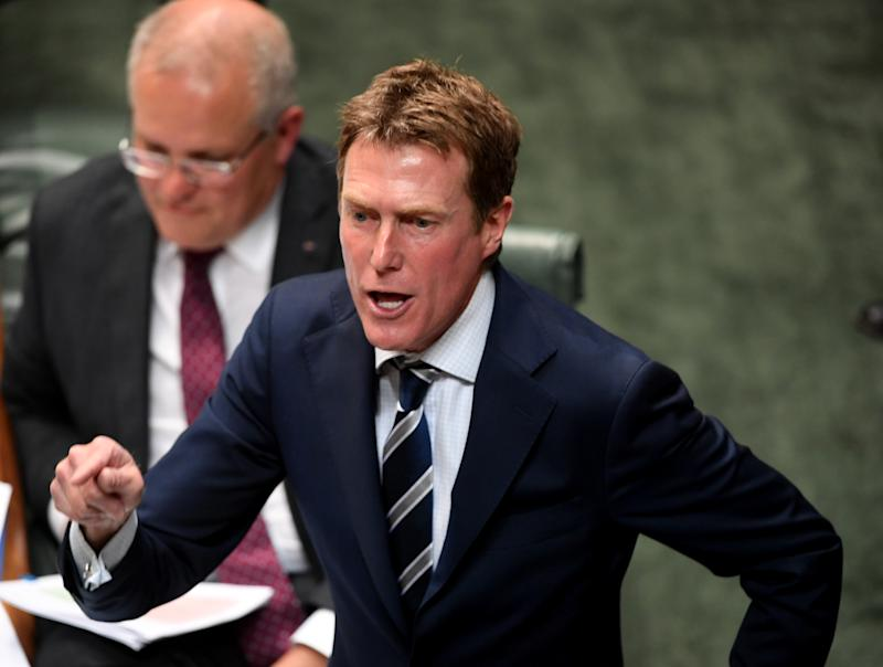 CANBERRA, AUSTRALIA - DECEMBER 02: Attorney General Christian Porter during Question Time in the House of Representatives at Parliament House on December 02, 2019 in Canberra, Australia. As parliament sits for its final week this year, the government will continue the push to repeal the medevac bill. (Photo by Tracey Nearmy/Getty Images)