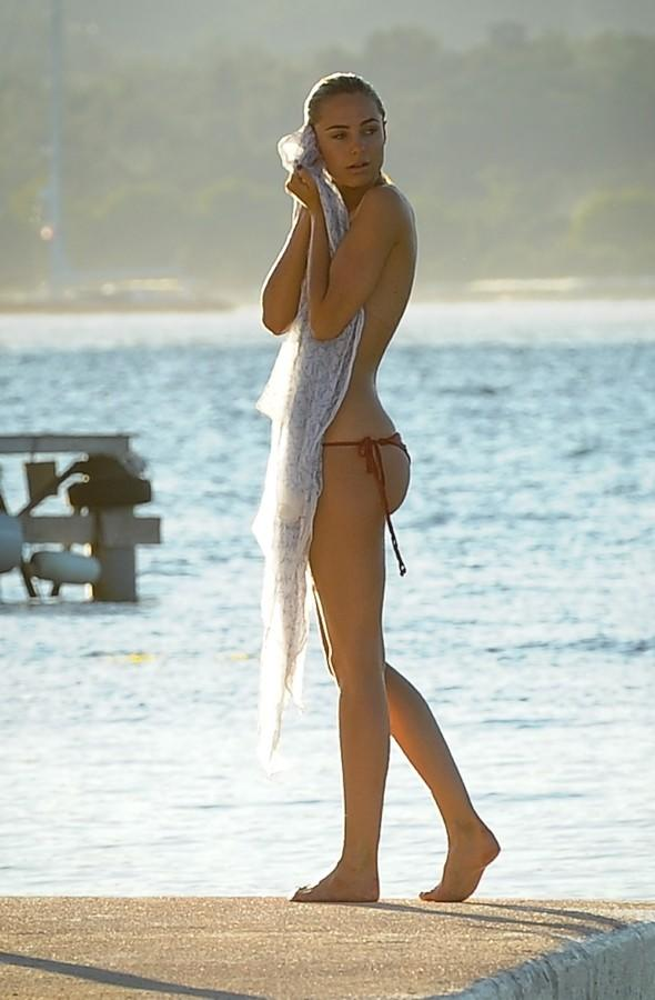 Kimberley Garner soaks up the sun in Greece