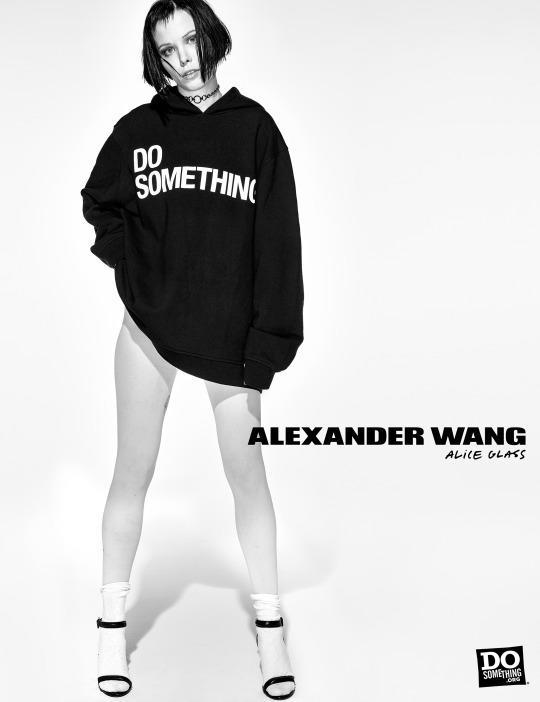 Alice Glass in the Alexander Wang x DoSomething T-shirt