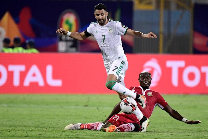 Riyad Mahrez helped Algeria to an opening 2-0 victory over Kenya (AFP Photo/JAVIER SORIANO)