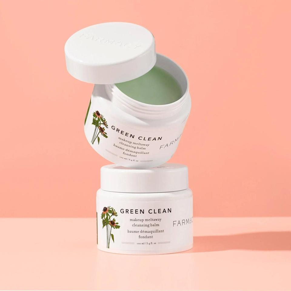<p>This <span>Farmacy Green Clean Makeup Removing Cleansing Balm</span> ($34) is the first step in my routine. I like it because it really removes my makeup in a way that feels both effective and gentle.</p>