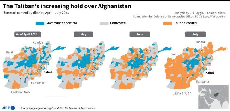 The Taliban's increasing hold over Afghanistan