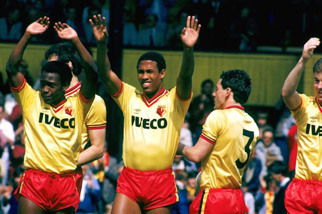 Kit of alright: John Barnes earned his old club some new gear after signing for Watford